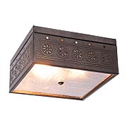 Square Flush-Mount Ceiling Light with Chisel Design (item #RS-03IW-431CX)