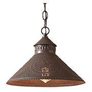 Stockbridge Pendant Light with Punched Star Design (item #RS-03IW-686RGX)