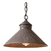 Stockbridge Pendant Light with Punched Willow Design (item #RS-03IW-686WLX)