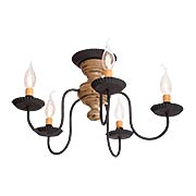 Thorndale Americana Wood & Tin 5-Arm Flush-Mount Ceiling Light (item #RS-03IW-9183TX)