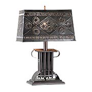 Rectangular Candle-Mold Table Lamp (item #RS-03IW-K14-4142X)