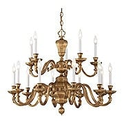 Casoria Dutch Baroque Chandelier With 15 Lights (item #RS-03ML-N1117X)