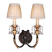 Bella Cristallo 2-Light Wall Sconce (item #RS-03ML-N2690-258B)