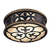 Montparnasse Flush Mount Fixture In Distressed French Black Finish (item #RS-03ML-N6109-20)