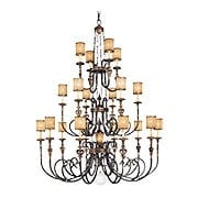Terraza Villa 20-Arm Chandelier with Spumanti Strato-Glass Shades (item #RS-03ML-N6487-270)