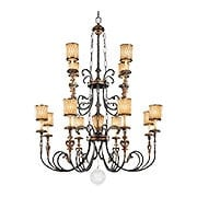 Terraza Villa 12-Arm Chandelier with Spumanti Strato-Glass Shades (item #RS-03ML-N6499-270)