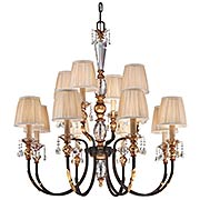 Bella Cristallo Two Tier 12-Light Chandelier (item #RS-03ML-N6649-258B)