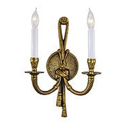 Rope & Tassel Double Sconce In French Gold (item #RS-03ML-N681B)