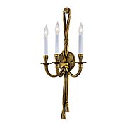 Rope & Tassel Triple Sconce In French Gold (item #RS-03ML-N682)