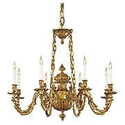 English Rococo 8 Light Chandelier In Antique Classic Brass (item #RS-03ML-N700408)