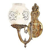 English Victorian Sconce With Etched Glass Shade (item #RS-03ML-N801901)