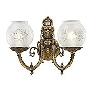 English Victorian 2 Light Wall Sconce (item #RS-03ML-N801902)