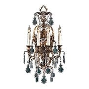 Italian Rococo 4 Light Sconce In Oxidized Brass (item #RS-03ML-N950200)
