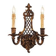 Dresden Double Sconce With Oxide Brass Finish (item #RS-03ML-N9813-2)