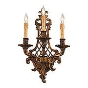 Dresden Triple Sconce With Oxide Brass Finish (item #RS-03ML-N9813-3)