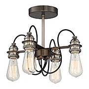 Uptown Edison 4-Light Semi Flush Mount (item #RS-03MV-4454-784)