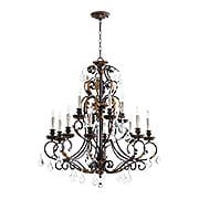 Rio Salado Two-Tier 12-Light Chandelier (item #RS-03QL-6157-12X)