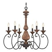 Auburn 6-Light Chandelier (item #RS-03QZ-ABN5006RK)