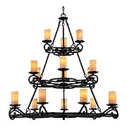 Armelle Three Tier 18-Light Chandelier (item #RS-03QZ-AME5018IB)