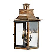 Chalmers Large Wall Lantern In Aged Copper (item #RS-03QZ-CM8412AC)