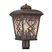 Fort Quinn Exterior Post Light (item #RS-03QZ-FQ9011X)