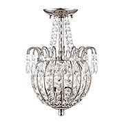 Jolene Semi-Flush Mount In Imperial Silver (item #RS-03QZ-JLE1709IS)