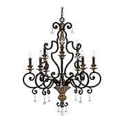 Marquette 9-Light Chandelier in Heirloom Bronze (item #RS-03QZ-MQ5009HL)