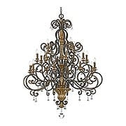 Marquette Grand 20-Light Chandelier in Heirloom Bronze (item #RS-03QZ-MQ5020HL)