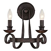 Noble 2-Light Wall Sconce (item #RS-03QZ-NBE8702RK)