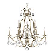Regent 9-Light Chandelier (item #RS-03QZ-REG5009X)