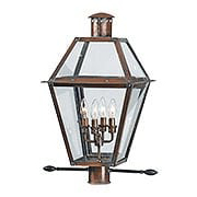 Rue De Royal Extra Large Post Lantern in Aged Copper (item #RS-03QZ-RO9014AC)