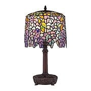 Purple Wisteria Desk Lamp With Art Glass Shade (item #RS-03QZ-TF1139T)