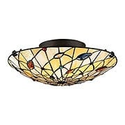 Graham Stained Glass Flush Mount In Vintage Bronze (item #RS-03QZ-TF1409SVB)