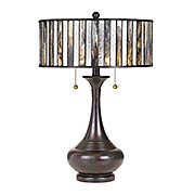Roland 2-Light Tiffany Table Lamp (item #RS-03QZ-TF3334TX)