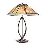 Cavern 2-Light Tiffany Table Lamp (item #RS-03QZ-TF3337TX)