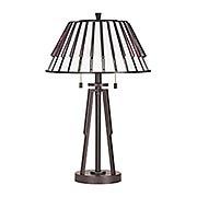 Carlin 2-Light Tiffany Table Lamp (item #RS-03QZ-TF3339TX)
