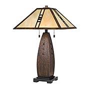Fulton 2-Light Tiffany Table Lamp (item #RS-03QZ-TF3341T)