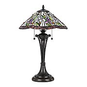 White Valley 2-Light Tiffany Table Lamp (item #RS-03QZ-TF3456TX)