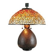 Pomez Table Lamp in Cinnamon (item #RS-03QZ-TF6825CN)