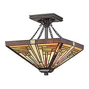 Stephen Small Semi Flush Mount in Vintage Bronze Finish (item #RS-03QZ-TF885SVB)