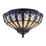 Ava Flush Mount Ceiling Light in Vintage Bronze (item #RS-03QZ-TFAV1714VB)
