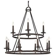 Voyager Two Tier 12-Light Chandelier (item #RS-03QZ-VYR5012ML)