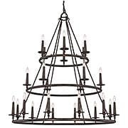 Voyager Three Tier 24-Light Chandelier (item #RS-03QZ-VYR5024ML)