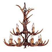Blue Ridge Two Tier 12-Light-Chandelier (item #RS-03SHL-1-40025-12-56)
