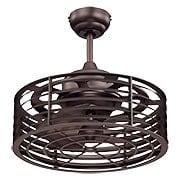 Seaside Caged Fan In English Bronze (item #RS-03SHL-14-325-FD-13)