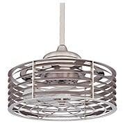 Seaside Caged Fan In Satin Nickel (item #RS-03SHL-14-325-FD-SN)