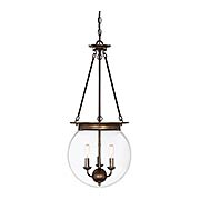 Landon 3 Light Orb Pendant (item #RS-03SHL-7-3301-3X)