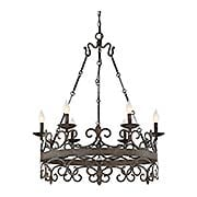 Flanders 6-Light Chandelier (item #RS-03SHL-7-8000-6X)