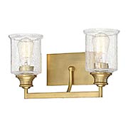 Hampton Warm Brass 2 Light Bath (item #RS-03SHL-8-1972-2-322)