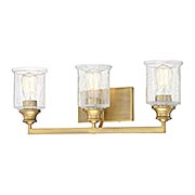 Hampton Warm Brass 3 Light Bath (item #RS-03SHL-8-1972-3-322)